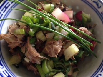 Lamb shoulder salad