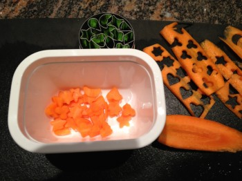Cutting shapes from carrots
