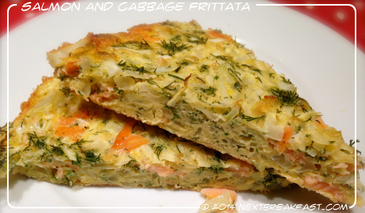 Smoked salmon and cabbage fritatta