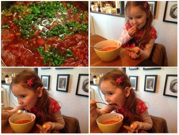 Borsch - how to eat