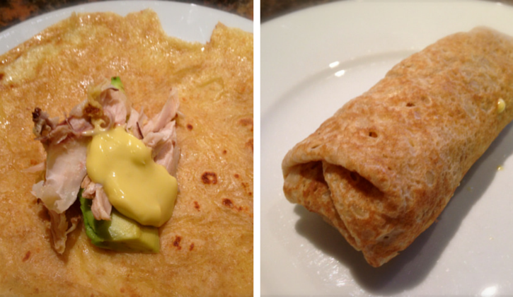 Chicken & avocado crepes