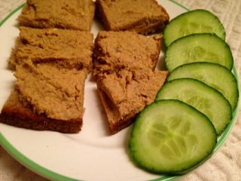 Liver Toast & Cucumber