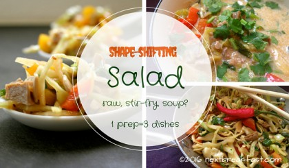 Shape Shifting Salad